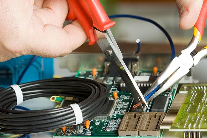 Wiring a circuit board