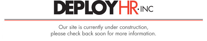 Deploy HR website is Under Construction